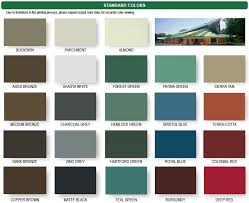 Standing Seam Roof Color Chart Metal Roof Color Options 2018 Corrugated Metal Roofing Metal