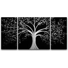 get quotations silver tree medium metal wall art 20 x 39 in on metal wall art cheap with cheap silver metal wall art find silver metal wall art deals on