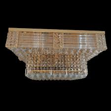 Feature Lights Midland 700mm Crystal Gold Ceiling Light