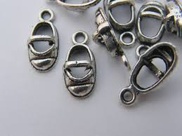 bulk 50 baby shoe charms antique silver tone bs5 charms pendants and findings