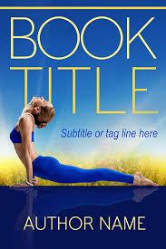 yoga pre made book cover design
