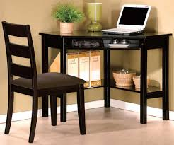 wooden computer desk and chair set