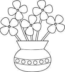 Small Picture Flowerpot Flower Coloring Page Wecoloringpage