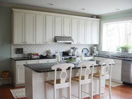 black and white kitchen backsplash ideas. Rich And Charming Diagonal Small Tile White Kitchen Backsplash With Island Added Black Tops As Well 3 Wooden Stools In Traditional Decors Ideas T