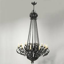 hand forged wrought iron grand scrolls chandelier