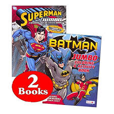Superman is flying into the space. Bendon Publishing Dc Comics Batman Superman Coloring And Activity Book Set Two 96 Page Books Walmart Com Walmart Com
