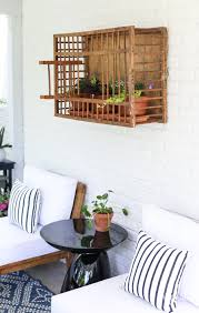 Outdoor lounge chairs & chaises. Vintage Chicken Crate Outdoor Wall Decor