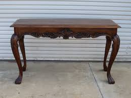 Perfect Antique Sofa Table Walnut Console Vintage Furniture I Intended Design Ideas