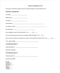 Sample Generic Job Application 8 Examples In Pdf