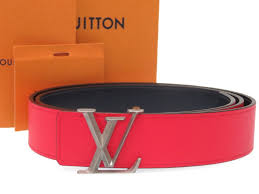 like new louis vuitton reversible leather belt red navy men size 95 n1013 lv