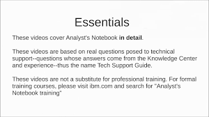 core introduction analyst s notebook a tech support guide core introduction analyst s notebook a tech support guide