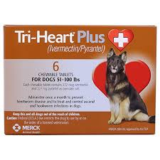 Tri Heart Plus Generic To Heartgard Plus 6pk Brown 51 100 Lbs