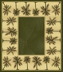 green bahamas palm tree rug 2321
