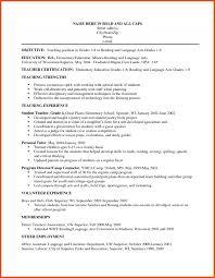 Objectives For Computer Teacher Resume Career Resumes Teaching
