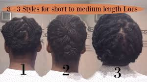 8 3 Styles For Short To Medium Length Locs Or Plaits Afro2locs