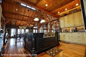 open living kitchen floor plan timber frame house