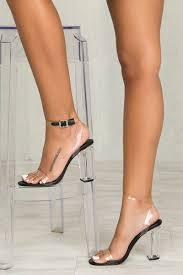 Designer Pvc Heels Jolie Perspex Heel Black Pvc In 2019 Fashion Shoes