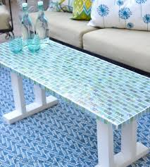 if you ve got some time on your hands and a lot of creativity this project comes out absolutely striking add some tile to your outdoor table for a truly
