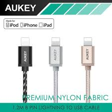 Aukey CB-D16 MFI Certified Nylon Braided USB A to Lightning ...