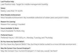 this guy got hired on the spot the funniest job application ever job application