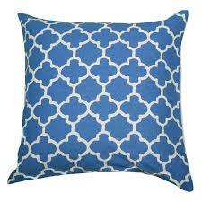 moroccan throw pillows. Rizzy Rugs Moroccan Blue 18-Inch Throw Pillow Pillows