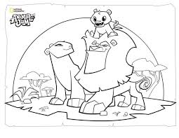 Printable animal coloring templates offer crisp and thick borders, which means that cutting out the figure after you fill it with colors is possible. Free Printable Animal Jam Coloring Pages