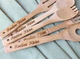 Kitchen Gift For Mom Personalized Mom 5 Custom Kitchen Wooden Spoons For Birthday