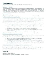 resume sample for real estate agent real estate broker resume resume for entry  level real estate