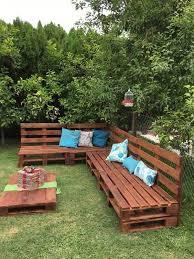diy pallet garden sofa