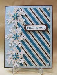 snowflake thank you cards savvy handmade cards layered snowflakes thank you card
