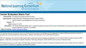 Matrix Electronic Charting Hiteq Center Vendor Evaluation Tool
