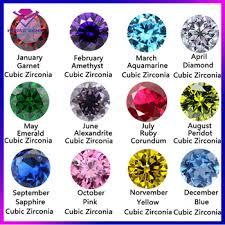 Fashion Jewelry Popular 12 Month Birthstone Jewelry Wholesale Colorful Birthstone Buy 12 Month Birthstone In Cubic Colorful Birthstone Gemstone 12