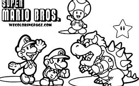 Coloring Pages Mario Brothers Characters Printable Coloring Pages