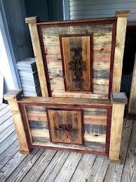 rustic pallet furniture. Rustic Pallet Headboard And Footboard Sets | Furniture DIY