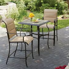 hampton bay belleville 3 piece padded sling outdoor bistro set with comfy your house concept reviews