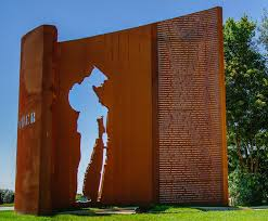 Cor ten steel Steel Panels Ww1 War Memorial Made From Corten Steel Ebay Corten Steel Ww1 War Memorial Leyland Dp Structures Esi