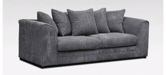 grey jumbo cord dylan sofa on