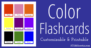 I combined shapes and colours in this set of flash cards. Color Flash Cards Stem Sheets