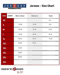 Jerzees T Shirt Size Chart Jerzees 5 3 Oz 100 Polyester Sport With Moisture Wicking T Shirt