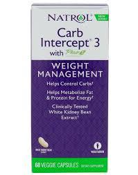 <b>Carb Intercept</b> 3 with Phase 2 Natrol (60 кап) - Жиросжигатели и ...