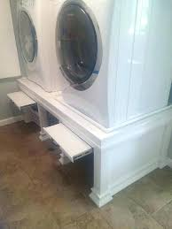 washing machine pedestal washing machine pedestal step 1 washing machine pedestal with drawer white
