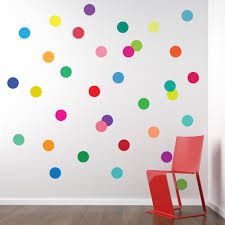 colorful decal colorful wall with polk dots