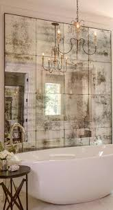 Antique mirrors add a glamorous vintage vibe – as here, use them ...