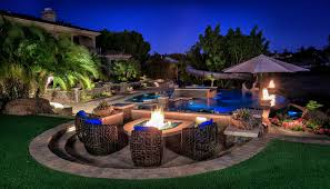 fire water combination landscaping design western outdoor design