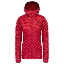 The North Face W Thermoball Pro Hoodie Rumba Red Free