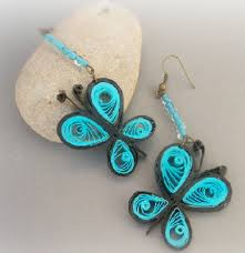 latest paper quilling earrings designs