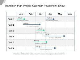 Transition Plan Project Calendar Powerpoint Show Templates