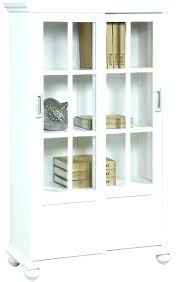 white bookcases with doors glass door bookcase sliding tall cellini gloss