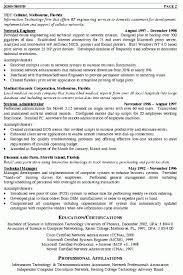 Network Engineering Resume Sample Professional Experience Free