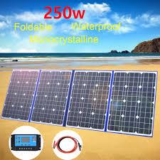 Flexible Solar Panel foldable <b>250w 12v</b> 18v Charger <b>Portable</b> solar ...